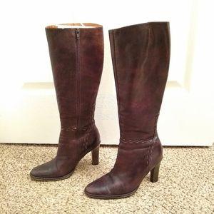 J. Crew Dark Brown Leather Knee High Boot - Size 6